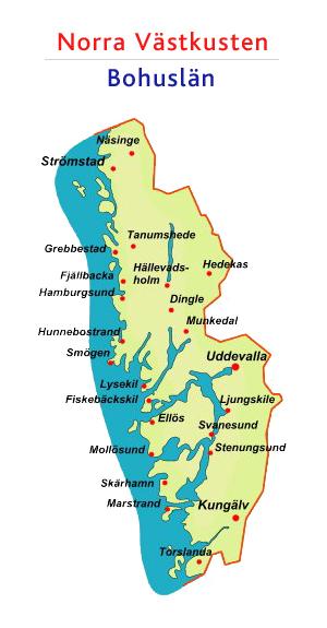 västkusten sverige karta Allt om Västkusten   Den Ultimata Guiden på fritiden.se västkusten sverige karta